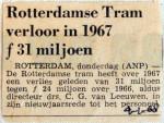 19680104 Rotterdamse tram verloor in 1967 31 miljoen