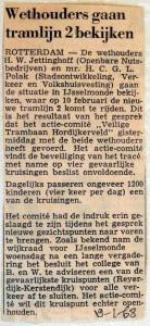 19680119 Wethouders gaan tramlijn 2 bekijken