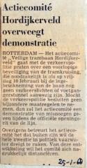 19680125 Actiecomitee Hordijkerveld overweegt demonstratie