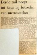 19680201 Derde rail noopt tot keus bij betreden metrostation