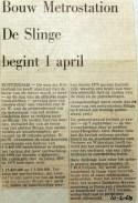 19680210 Bouw metrostation Slinge begint 1 april