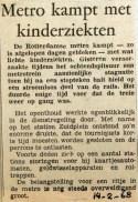 19680214 Metro kampt met kinderziekten