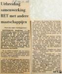 19680229 Uitbreiding samenwerking RET met andere maatschappijen
