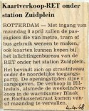 19680404 Kaartverkoop RET onder metrostation Zuidplein