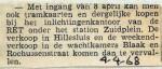 19680404 RET kaartverkoop van Hillesluis naar Zuidplein