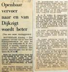 19680423 Openbaar Vervoer Dijkzigt wordt beter (Parool)