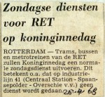 19680426 Zondagse diensten RET op Koninginnedag
