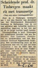 19680605 Scheidende prof. Tinbergen maakt tramritje