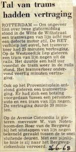 19680626 Tal van trams hadden vertraging