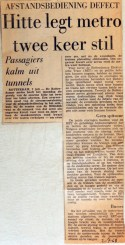 19680702 Hitte legt metro twee keer stil