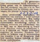 19680703 Blikseminslag bij de RET (Parool)