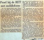 19680720 Proef bij de RET met mobilofoons