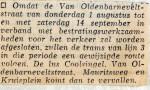 19680730 Trams rijden gewijzigde route Van Oldenbarneveltstraat