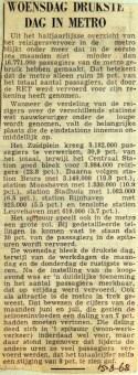 19680815 Woensdag drukste dag in metro