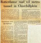 19680906 Rotterdamse raad wil metrotunnel in Churchillplein