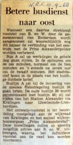 19680910 Betere busdienst naar Oost (NRC)