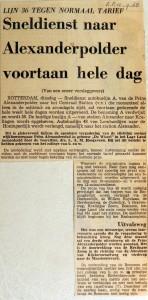 19680910 Sneldienst naar Alexanderpolder de hele dag