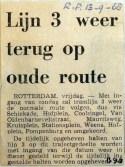 19680913 Lijn 3 weer terug op oude route (Parool)