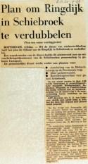 19680920 Plan om Ringdijk Schiebroek te verdubbelen (Parool)