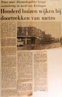 19681004 Honderd huizen wijken bij doortrekken metro (Parool)