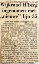 19681008 Hillegersberg ingenomen met nieuwe lijn 35 (Rotterdammer)