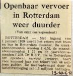 19681019 Openbaar Vervoer in Rotterdam weer duurder
