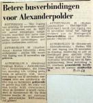 19681119 Betere busverbindingen Alexanderpolder