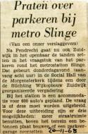 19681120 Praten over parkeren bij metro Slinge