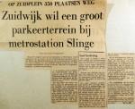 19681122 Zuidwijk wil groot parkeerterrein bij Slinge