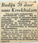 19681123 Buslijn 70 door naar Kreekhuizen