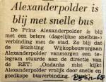 19681125 Alexanderpolder blij met snelle bus