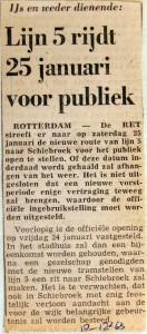19681218 Lijn 5 rijdt 25 januari voor publiek