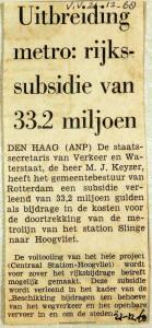 19681221 Rijkssubsidie uitbreiding metro (HVV)