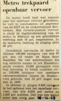 19681228 Metro trekpaard openbaar vervoer