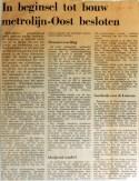 19690103 In beginsel tot bouw metrolijn Oost besloten