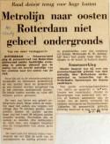 19690103 Metrolijn naar oosten niet geheel ondergronds (AD)