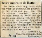 19690114 Bouw metro in de Rotte