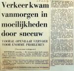 19690210 Verkeer door sneeuw in moeilijkheden (Parool)