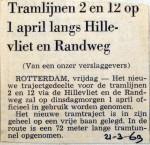 19690321 Tramlijnen 2 en 12 langs Hillevliet en Randweg