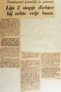19690401 Lijn 2 stapje dichter bij echte vrije baan