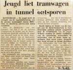19690403 Jeugd liet tramwagen in tunnel ontsporen