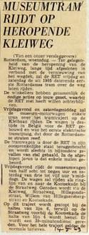 19690514 Museumtram rijdt op heropende Kleiweg