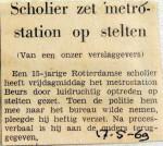 19690517 Scholier zet metrostation op stelten