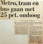 19690529 Metro, tram en bus gaan 25 pct omhoog