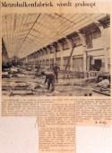 19690607 Metrobalkenfabriek wordt gesloopt