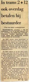 19690621 In trams 2 en 12 ook overdag betalen bij bestuurder