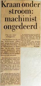 19690704 Kraan onder stroom machinist ongedeerd