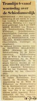 19690718 Tramlijn 6 over Schiedamsedijk