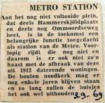 19690903 Metrostation Hammerskjoldplaats