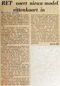 19690925 RET voert nieuw model rittenkaart in (Havenloods)